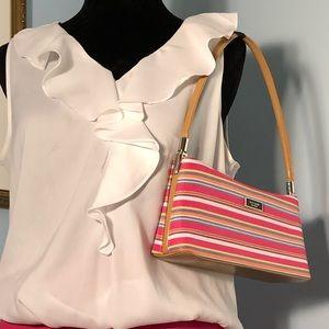 Kate Spade Purse Handbag, Pink, Blue Cream Stripe